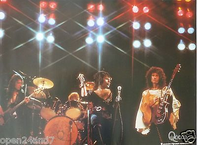 """Queen """"playing In Concert Under Stage Lights"""" Japanese Promo Poster"""