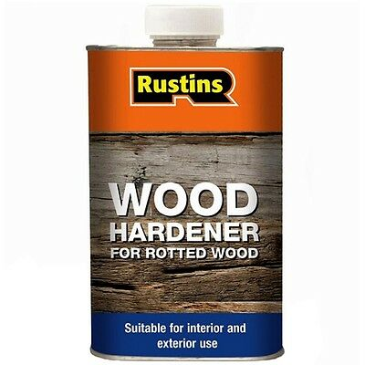 Rustins Wood Hardener for Rotted Wood Suitable for Interior & Exterior Use 250ml
