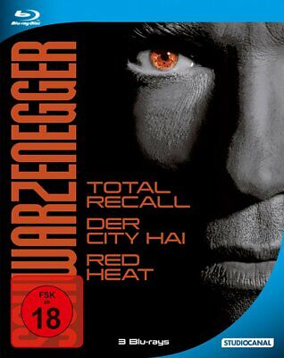 Arnold Schwarzenegger Steelbook (Total Recall+Raw Deal+Red Heat) 3-BLU-RAY-NEU