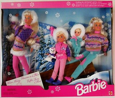 Winter Holiday Barbie Gift Set (New)