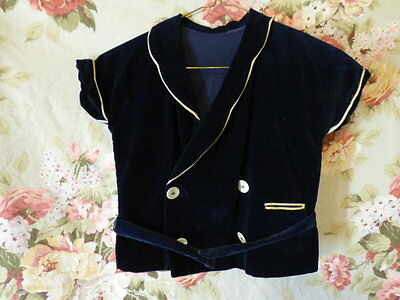 60s Girls midnight blue cotton velvet jacket 28 breast