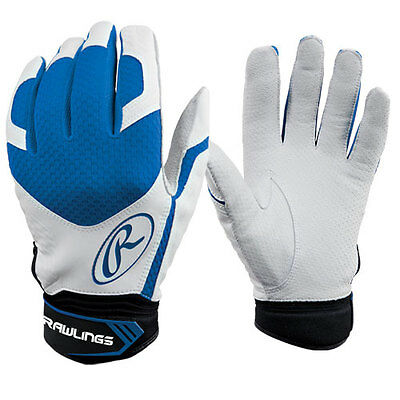 Rawlings Excellence Premium Batting Gloves Pair Adult Small Royal Blue