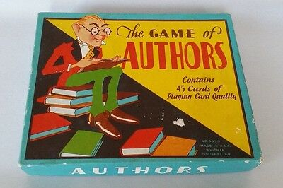 Vintage Whitman Authors Card Game Box Only