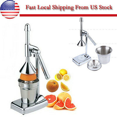 Manual Commercial Juicer Hand Press Squeezer Orange Citrus Fruit Juice Extractor