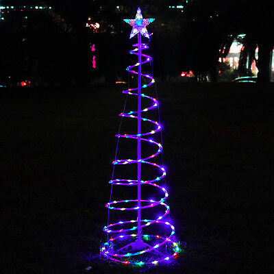 5' Color Changing LED Spiral Tree Lights Outdoor/Indoor Holiday Christmas Décor