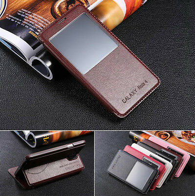 Luxury Protective Flip Stand Leather View Case Cover for Samsung Galaxy Series