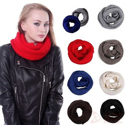 Women's Knit Infinity Scarf Chunky Crochet Circle Loop Scarf Cowl Neck Wrap
