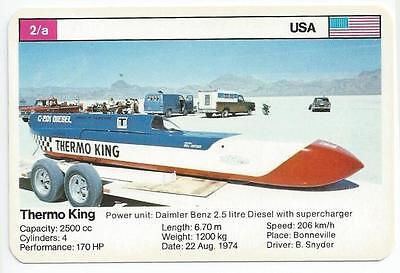 Top Trumps - World Record Holders - Card 2A - Thermo King (Amph)