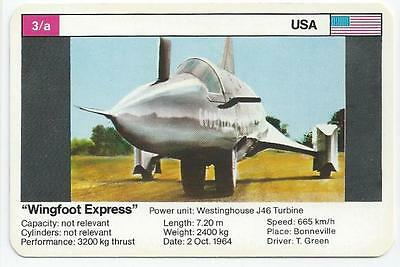 "Top Trumps - World Record Holders - Card 3A - ""wingfoot Express"" (Ampl)"