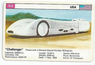 "Top Trumps - World Record Holders - Card 3D - ""challenger"" (Ampo)"