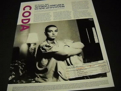 SINEAD O'CONNOR 25 years ago NOTHING COMPARED HER detailed frameable PROMO PAGE