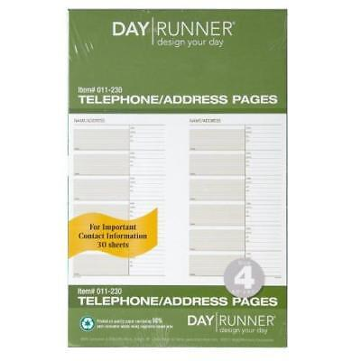 Day Runner Undated Planner Telephone and Address Refill, 5.5 x 8.5 Inches