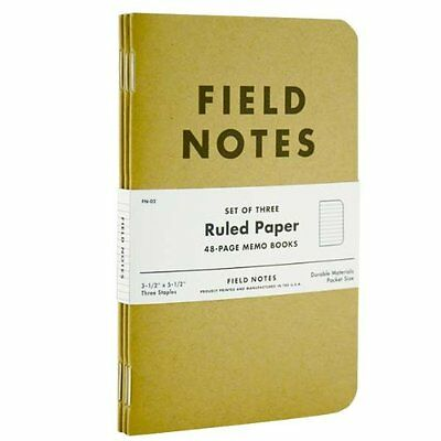 Field Notes Kraft Ruled 3-Pack New
