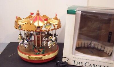 Mr. Christmas Holiday Merry Go Round The Musical Carousel 15 Carols Animated