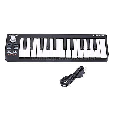 New 25 -Sensitive Mini-Keyboard Keys USB MIDI 4 programmable memory banks E8QK