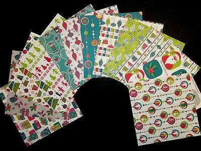 "*JOLLY CHRISTMAS* Colourful Double Sided Christmas Papers *15cm x 15cm (6 ""X 6"")"