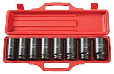 TEKTON 3/4-Inch Drive Deep Impact Socket Set, Metric, Cr-V, 6-Point, 27 mm - New