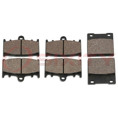 Front + Rear Organic Brake Pads 1997-2003 Suzuki GSX-R600 Set Full Kit V W X do