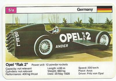 "Top Trumps - World Record Holders - Card 5A - Opel ""rak 2"" (Ampt)"