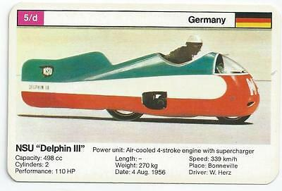 "Top Trumps - World Record Holders - Card 5D - Nsu ""delphin Iii"" (Ampw)"