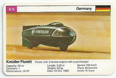 Top Trumps - World Record Holders - Card 6B - Kreidler Florett (Ampy)