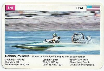 Top Trumps - World Record Holders - Card 8D - Dennis Polliccia (Amqi)