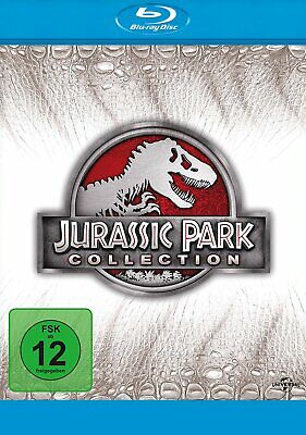 Jurassic Park Collection - 1+2+3+4 (Jurassic World) # 4-BLU-RAY-BOX-NEU