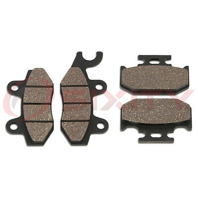 Front + Rear Organic Brake Pads 1989-1993 Kawasaki KX125 Set Full Kit G1 H1 ir