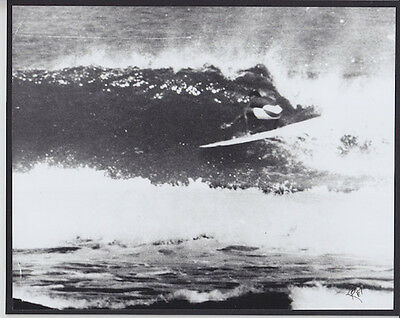Eddie Aikau At Laniakea 1968 8X10 Inch Bw Photo Hand Printed By Photographer