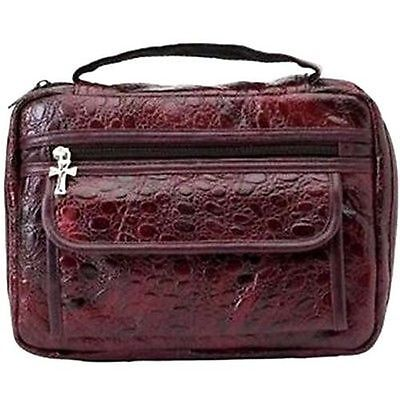 BURGUNDY Real Leather Quality Bible Book Cover Wallet Christian Jesus BIB-0002