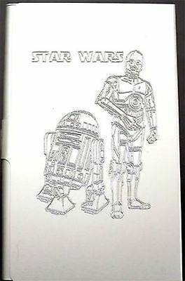 STAR WARS C-3PO Engraved Business Credit Card Case Patch Holder Gift BUS-0070
