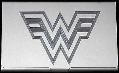 Wonder Woman Comic Book Engraved Business Card Case Patch Holder Gift BUS-0322