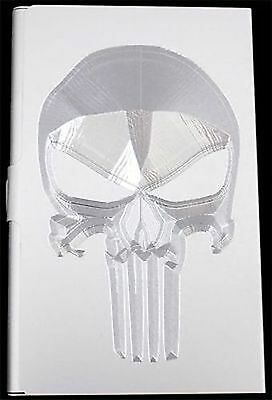 PUNISHER SKULL Engraved Business Wallet ID Card Case Patch Holder Gift BUS-0279
