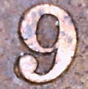 """1893 (variety) VF Canadian Large Cent, re-punched """"9"""", page 337"""