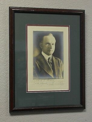 President Calvin Coolidge Signed and Framed Photograph