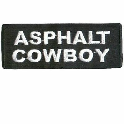 Asphalt Cowboy Great Embroidered Motorcycle MC Club Biker Vest Patch PAT-0110