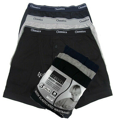 6 or 12 Pack Boys Classic Cotton Boxer Shorts Ages 6-8 ,9-11 ,12-13 Years Check