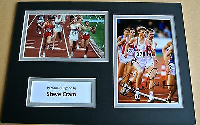 Steve Cram Genuine Hand Signed Autograph A4 Photo Display Olympics La 1984 & Coa