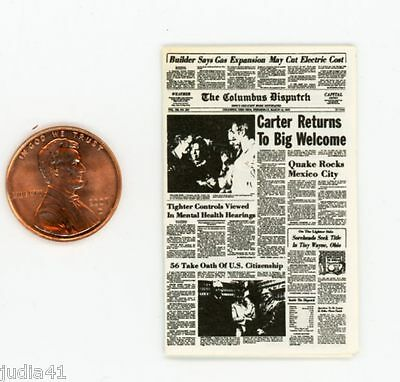 Miniature Dollhouse Newspaper N O The Times-Picayune