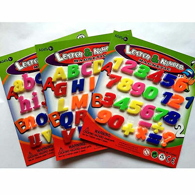 Teaching Magnetic Letters&Numbers Fridge Magnets Alphabet Child Kids Toys Decals