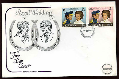 Jersey 1973 Royal Wedding FDC #C11715