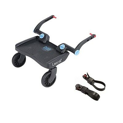 Lascal BuggyBoard MINI (3D Blue) with Universal Connectors