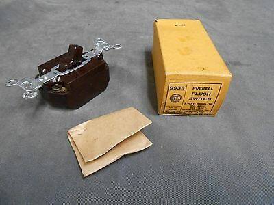 UNUSED Vintage Hubbell 9933 Brown Bakelite Three 3 Way Switch