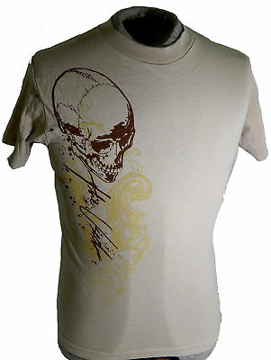 "The Used ""Skull"" Adult T-Shirt ^ Size S Tan ^ New Rare Shirt Bert McCracken"