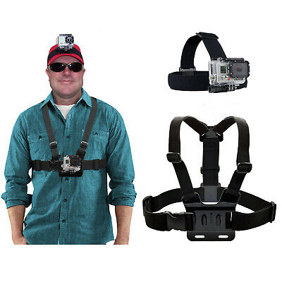 Adjustable Chest Mount Harness, Head Strap Mount for GoPro HERO5,4,3+,3,2,1