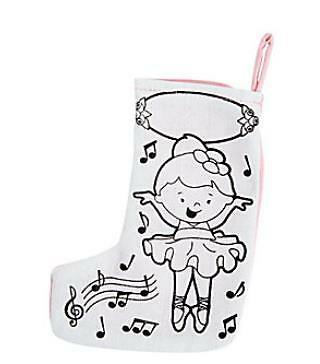 1 Color Your Own Mini Ballerina Stocking Craft Kids Gift Pink Wonderful