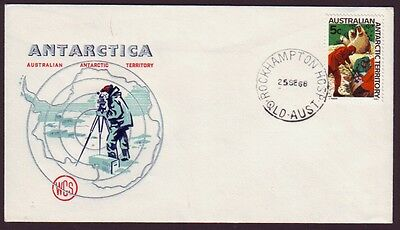 1968 AUSTRALIAN ANTARCTIC TERRITORY 5c ON WESLEY FIRST DAY COVER MAINLAND CANCEL