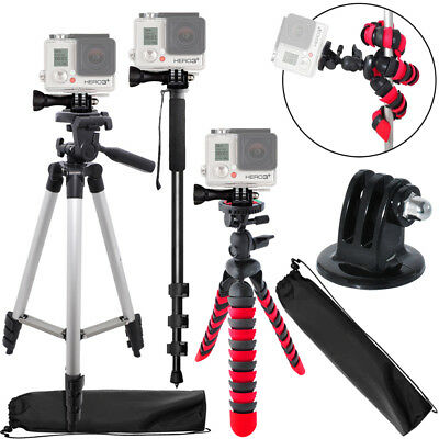 "50"" Inch Tripod + 72 Inch Monopod + 12 Inch Flexible Tripod for Gopro Camera"