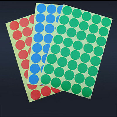 "400 Labels Round 1""Inch Color Coding Coded Inventory Sticker Dot 10 colors"