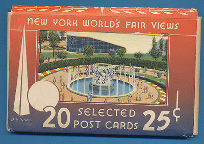 1939 New York World's Fair - pack of 20 postcards - by Grinnell Litho Co, SUPERB